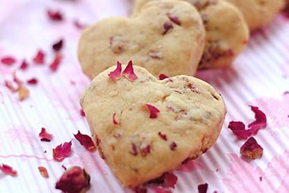 玫瑰花心形饼干
