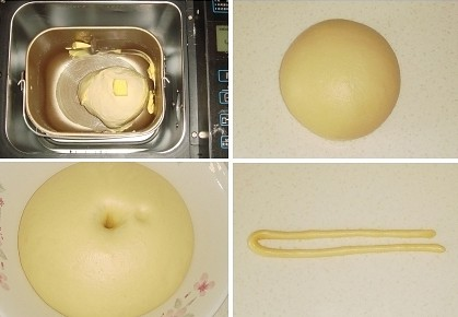 面包机做麻花面包的第二步